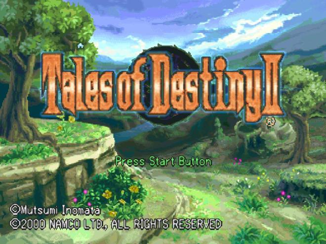title screen of Tales of Destiny II